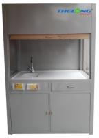 Tủ hút khí độc làm bằng thép sơn chịu hóa chất